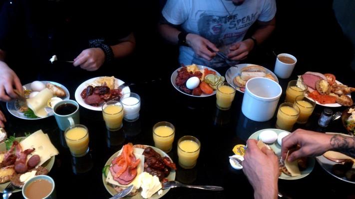 Aamupalalla Oulussa